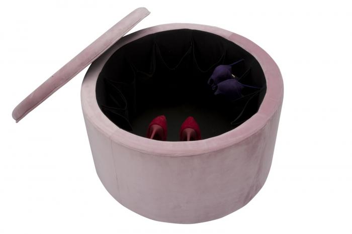 Puf cu spatiu de depozitare pantofi PINKY (cm) Ø 71X41 1
