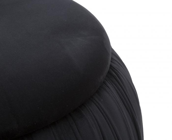 Puf cu spatiu depozitare PARIS, negru, 41X41 cm, Mauro Ferretti 3