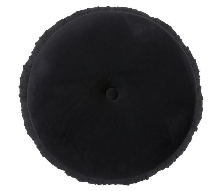Puf cu spatiu depozitare PARIS, negru, 41X41 cm, Mauro Ferretti 5