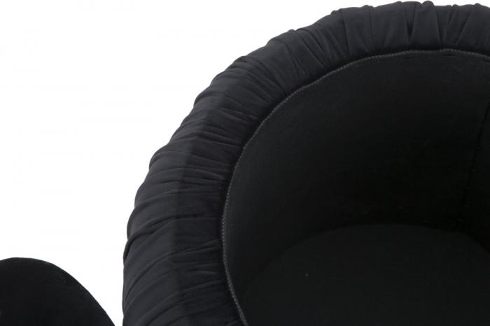 Puf cu spatiu depozitare PARIS, negru, 41X41 cm, Mauro Ferretti 8