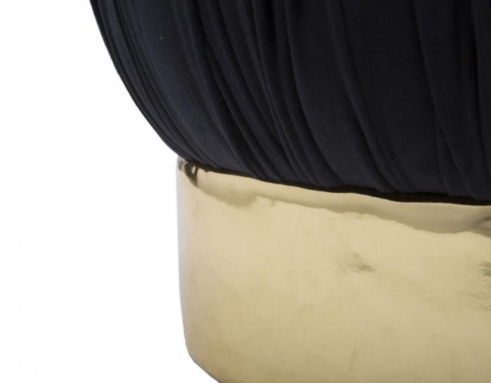 Puf cu spatiu depozitare PARIS, negru, 41X41 cm, Mauro Ferretti 4