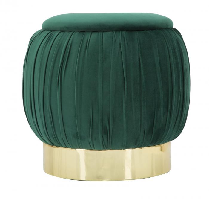 Puf cu spatiu depozitare PARIS, verde, 41X41 cm, Mauro Ferretti 1