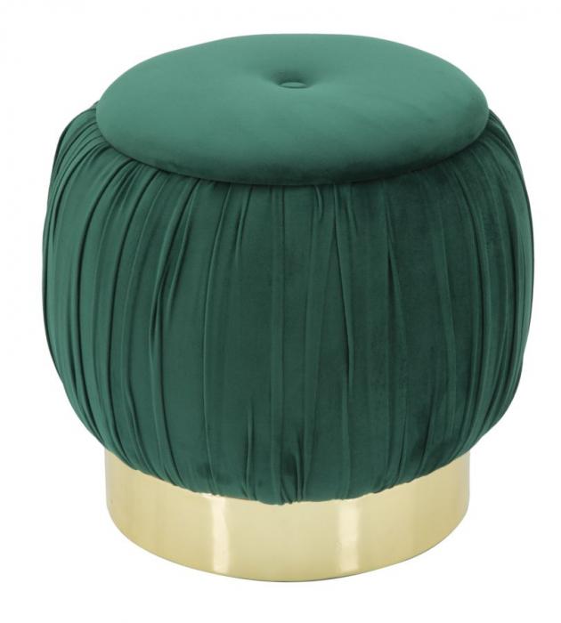 Puf cu spatiu depozitare PARIS, verde, 41X41 cm, Mauro Ferretti 0