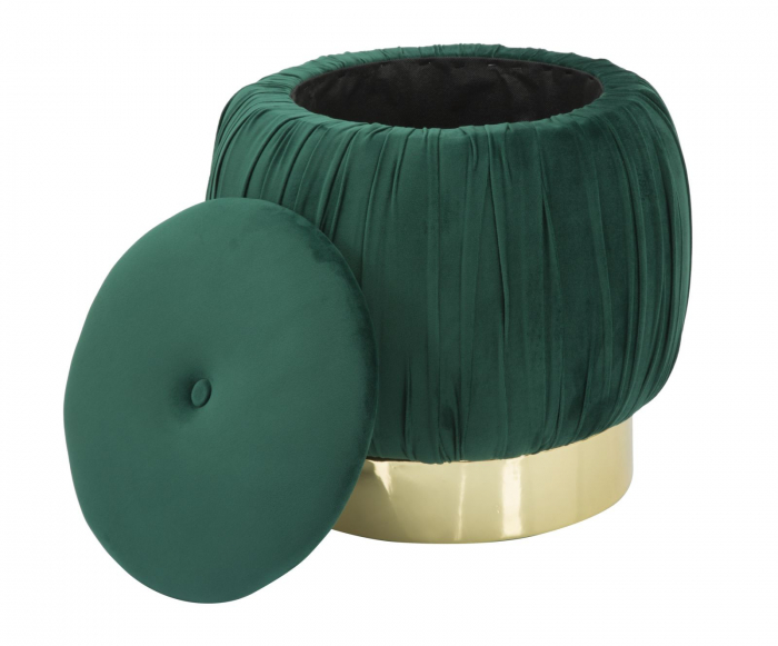 Puf cu spatiu depozitare PARIS, verde, 41X41 cm, Mauro Ferretti 3