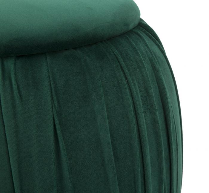 Puf cu spatiu depozitare PARIS, verde, 41X41 cm, Mauro Ferretti 4