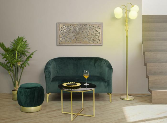 Puf cu spatiu depozitare PARIS, verde, 41X41 cm, Mauro Ferretti 7