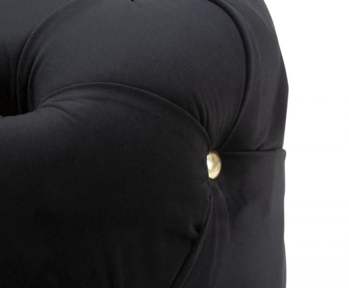 Puf DIAMOND, negru, 45X40 cm, Mauro Ferretti 4