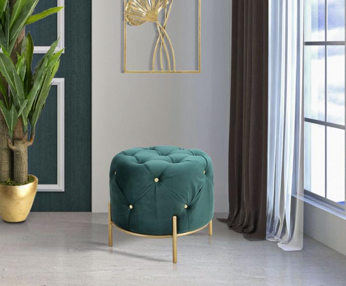 Puf DIAMOND, verde, 45X40 cm, Mauro Ferretti [0]