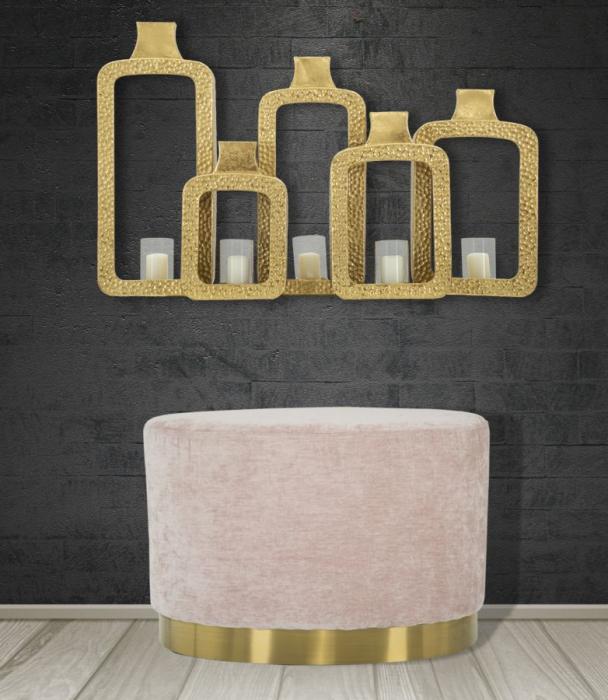 Puf GOLDY, roz,  60X40X40 cm, Mauro Ferretti [7]