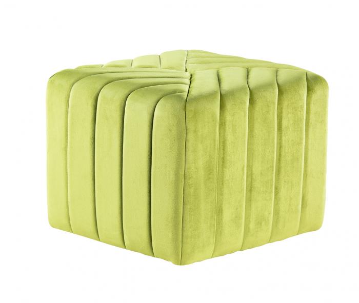 Puf MONTREAL, textil, verde, 43.5x36.5x43.5 cm [0]