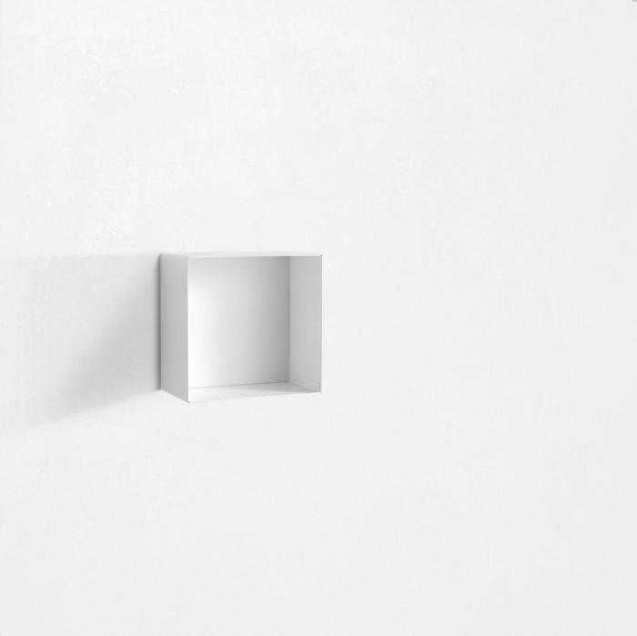 Raft de perete RIINO 1, Metal, Alb, 27.5x18 cm 2021 lotusland.ro