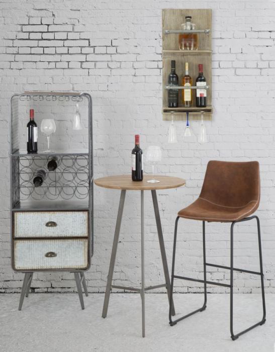 Raft pentru sticle si pahare, 34X12X76 cm, Mauro Ferretti 9