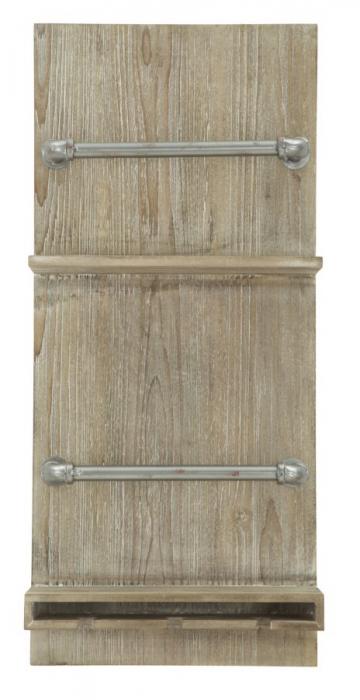 Raft pentru sticle si pahare, 34X12X76 cm, Mauro Ferretti 1