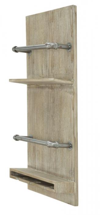 Raft pentru sticle si pahare, 34X12X76 cm, Mauro Ferretti 3