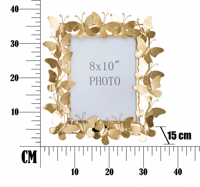 Rama foto BUTTERFLY GLAM CM 35X15X38 (dimensiune foto CM 20X25), Mauro Ferretti [5]