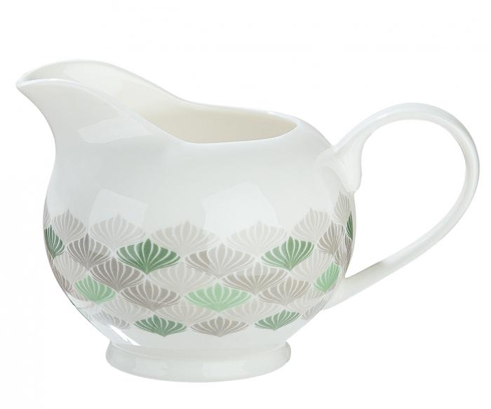 Recipient pentru lapte Natural Art, portelan, multicolor, 13.5x8.5x9 cm lotusland.ro
