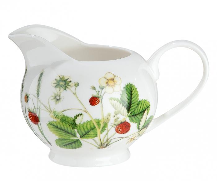 Recipient pentru lapte Wild Flowers, portelan, multicolor, 13.5x8.5x9 cm lotusland.ro
