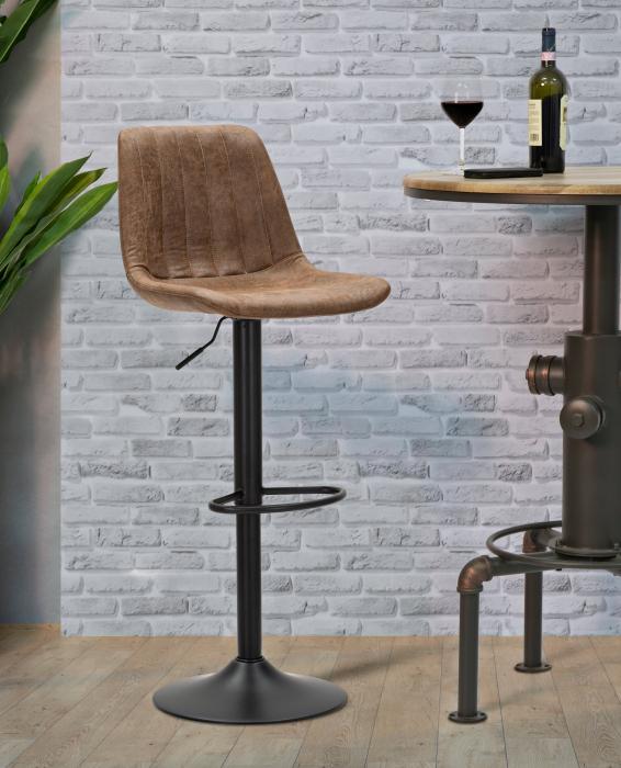 Scaun de bar ajustabil BERLIN -A- CM 43X43X90-112 (inaltime sezut CM 60-84), Mauro Ferretti lotusland.ro