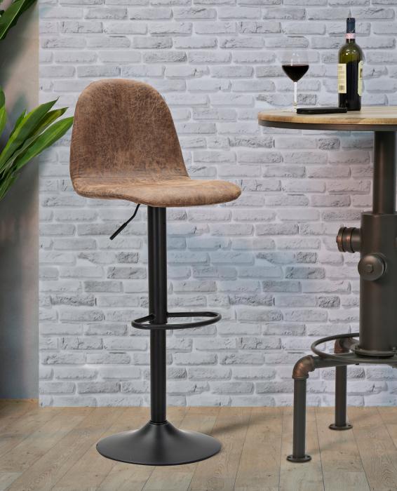 Scaun de bar ajustabil  BERLIN -B-CM 41X50X90-112 (inaltime sezut  CM 60X81)      , Mauro Ferretti [0]