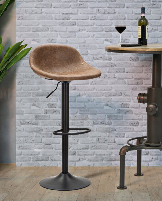 Scaun de bar ajustabil BERLIN -C- CM 46X40X80-102 (inaltime sezut CM 61-82), Mauro Ferretti lotusland.ro