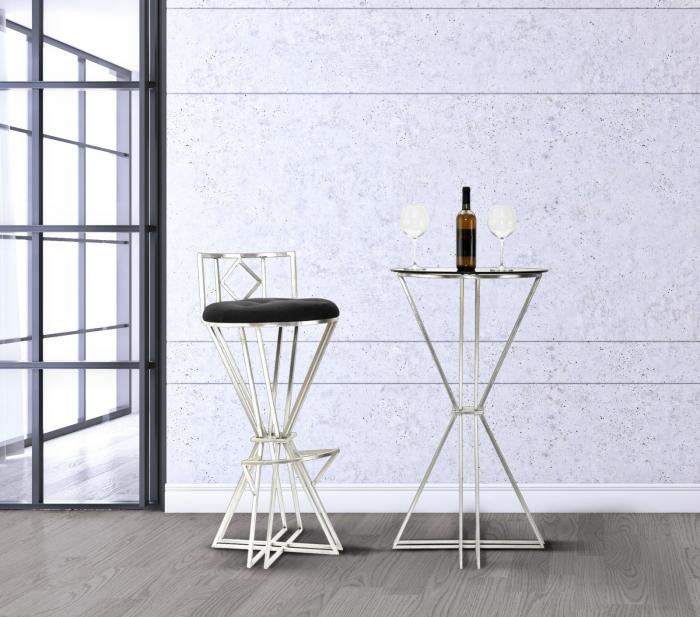 Scaun de bar OSLO (cm) O 41,5X90 lotusland.ro