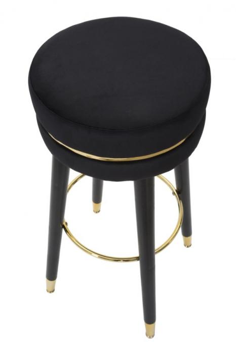 Scaun de bar PARIS negru/auriu (cm) Ø 35X74 2