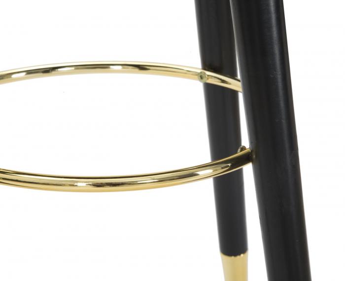Scaun de bar PARIS negru/auriu (cm) Ø 35X74 3