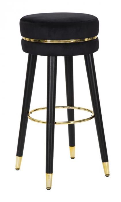 Scaun de bar PARIS negru/auriu (cm) Ø 35X74 0