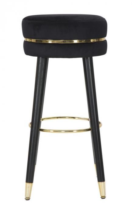 Scaun de bar PARIS negru/auriu (cm) Ø 35X74 1
