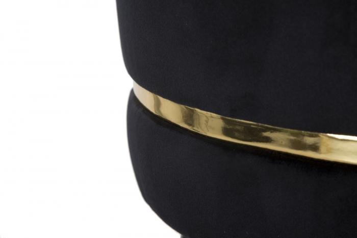 Scaun de bar PARIS negru/auriu (cm) Ø 35X74 4