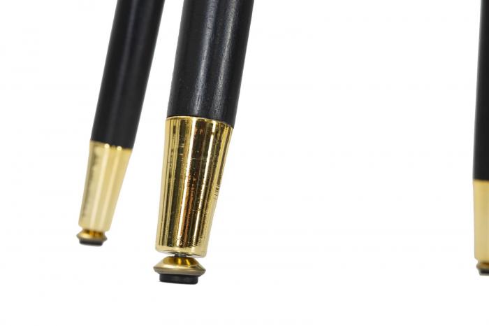 Scaun de bar PARIS negru/auriu (cm) Ø 35X74 5