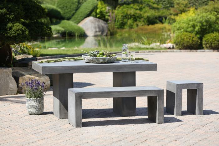 Scaun de exterior, ciment, gri, 40x45x40 cm 0