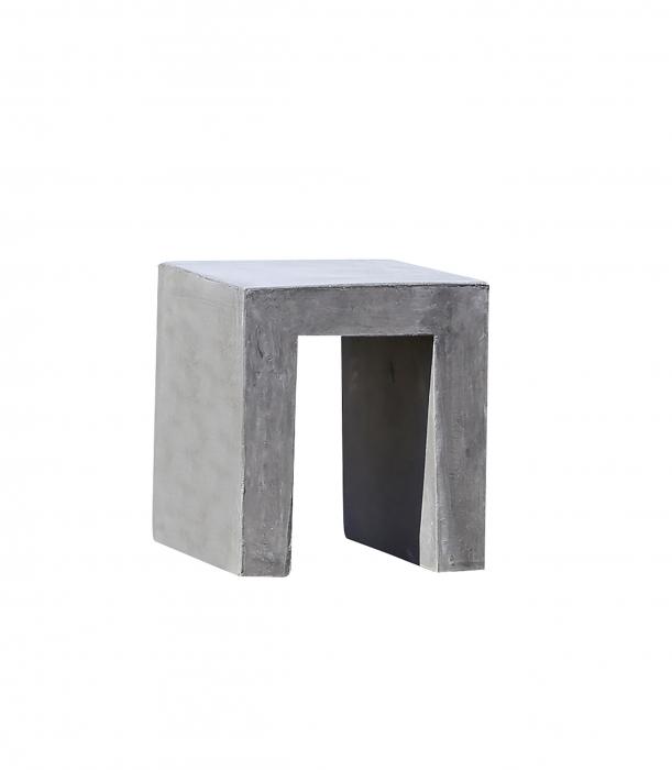 Scaun de exterior, ciment, gri, 40x45x40 cm 1