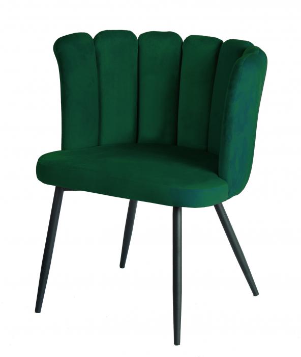 Scaun VENEZIA, cadru metal, verde, 57x78x45 cm 0
