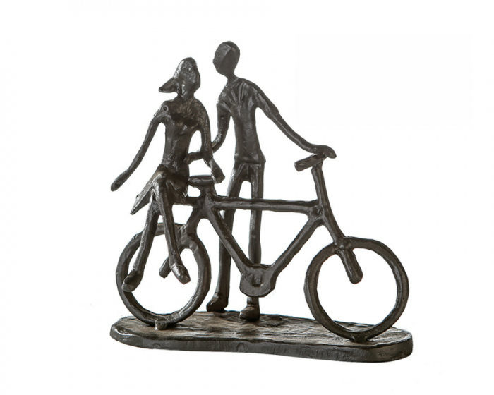 Figurina PAIR ON BIKE, rasina, 15x8x15 cm 0