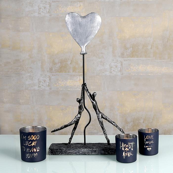 Figurina HEART-BALLOON, rasina, 26x8x48 cm 4