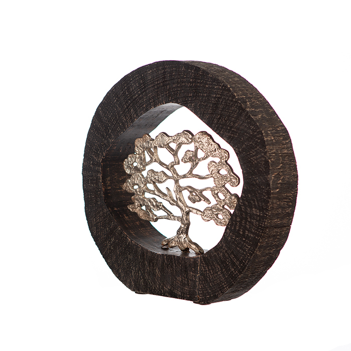 Figurina BEECH, aluminiu/lemn, 35x7x34 cm 4