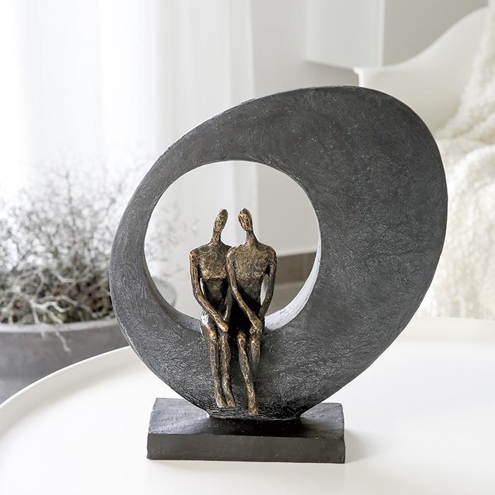Figurina SIDE BY SIDE, rasina, 30x10x33 cm [0]