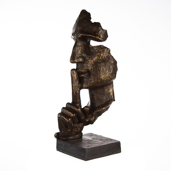 Figurina SILENCE, rasina, 13x13x39 cm 2