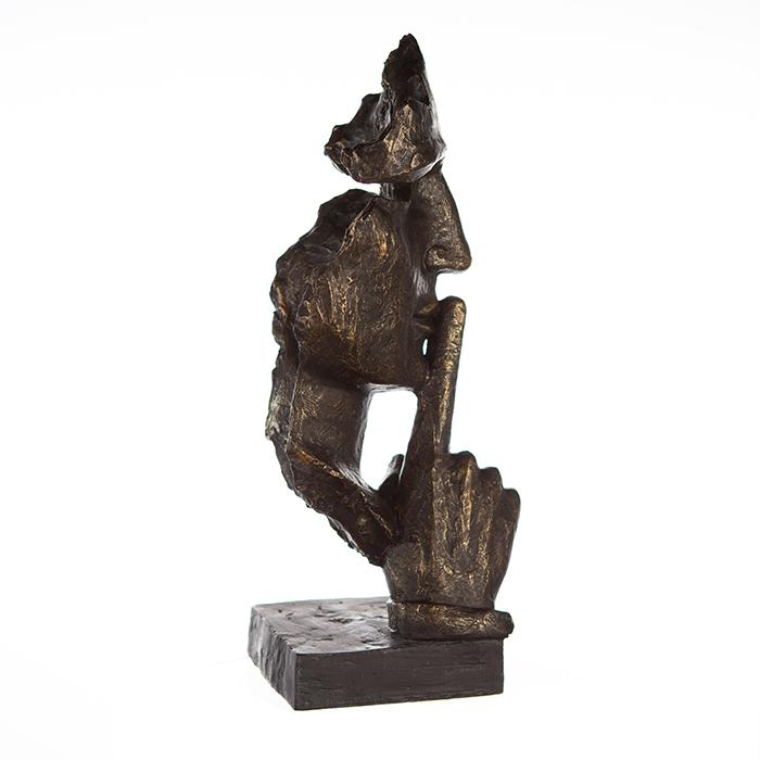 Figurina SILENCE, rasina, 13x13x39 cm 1