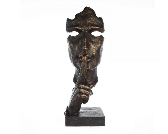 Figurina SILENCE, rasina, 13x13x39 cm 2021 lotusland.ro