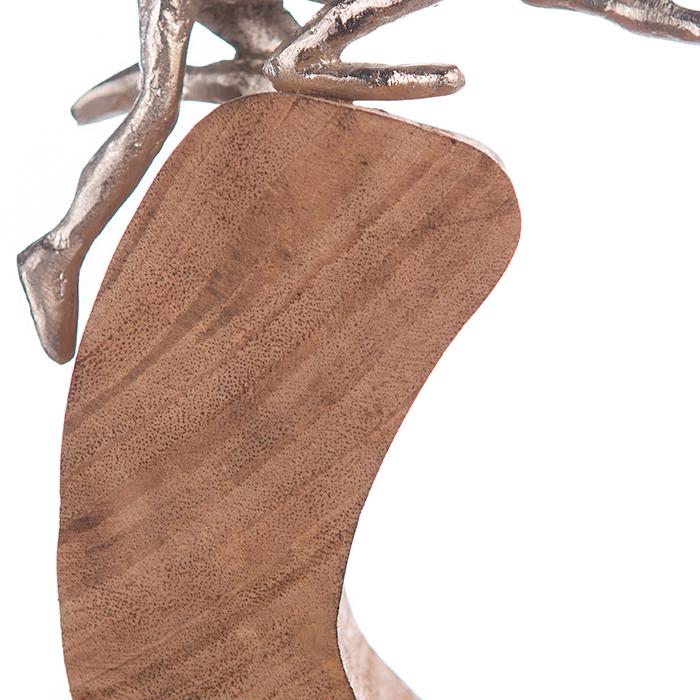 Figurina SUPPORT, lemn/aluminiu, 29x7x24 cm 2