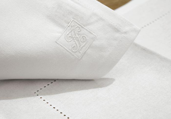 Servete de masa FONJA, bumbac, alb, 37x52 cm 1