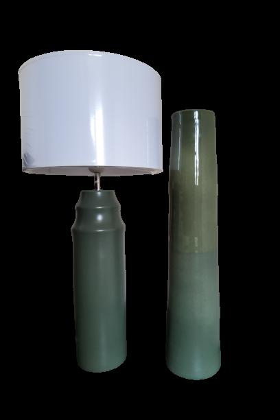 Set 1 lampa cu 1 vaza KACKI, ceramica, 50/36 0