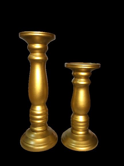 Set 1 Lampa cu 2 sfesnice TOWER, ceramica, albastru/auriu, 37/40/30 cm 1
