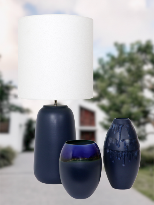 Set 1 Lampa cu 2 vaze HORY, ceramica, albastru, 35/23.5/30 cm [1]