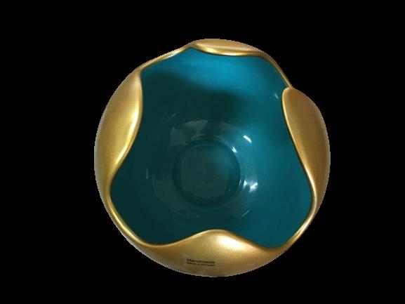 Set 1 Lampa cu 2 Vaze WAVES, ceramica, auriu/albastru, 23/27/22.5 cm 2