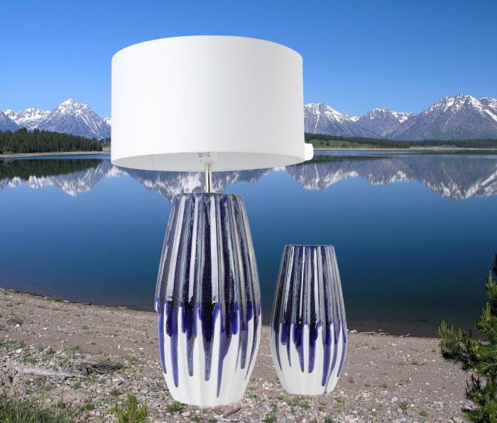 Set 1 Lampa cu Vaza MOONEYE, ceramica, 40/30 cm 1