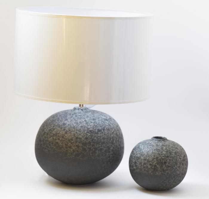 Set 1 Lampa cu Vaza PERCAL, ceramica, gri, 20 13 cm imagine 2021 lotusland.ro