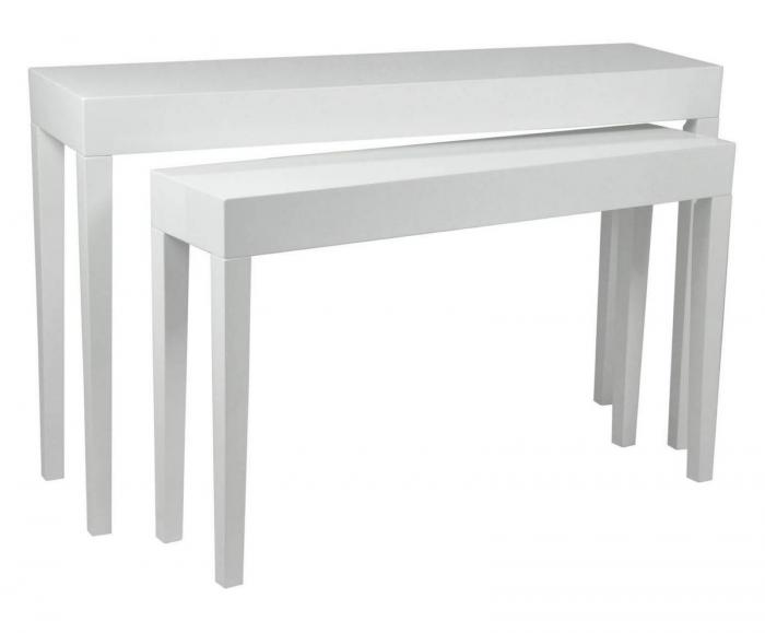 Set 2 console, alb, 130X34X80-110X27X68 cm, Mauro Ferretti 1